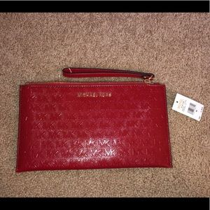 Michael Kors zip clutch